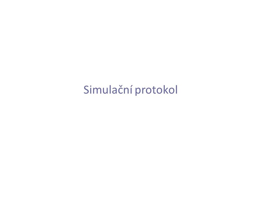 Simulační protokol