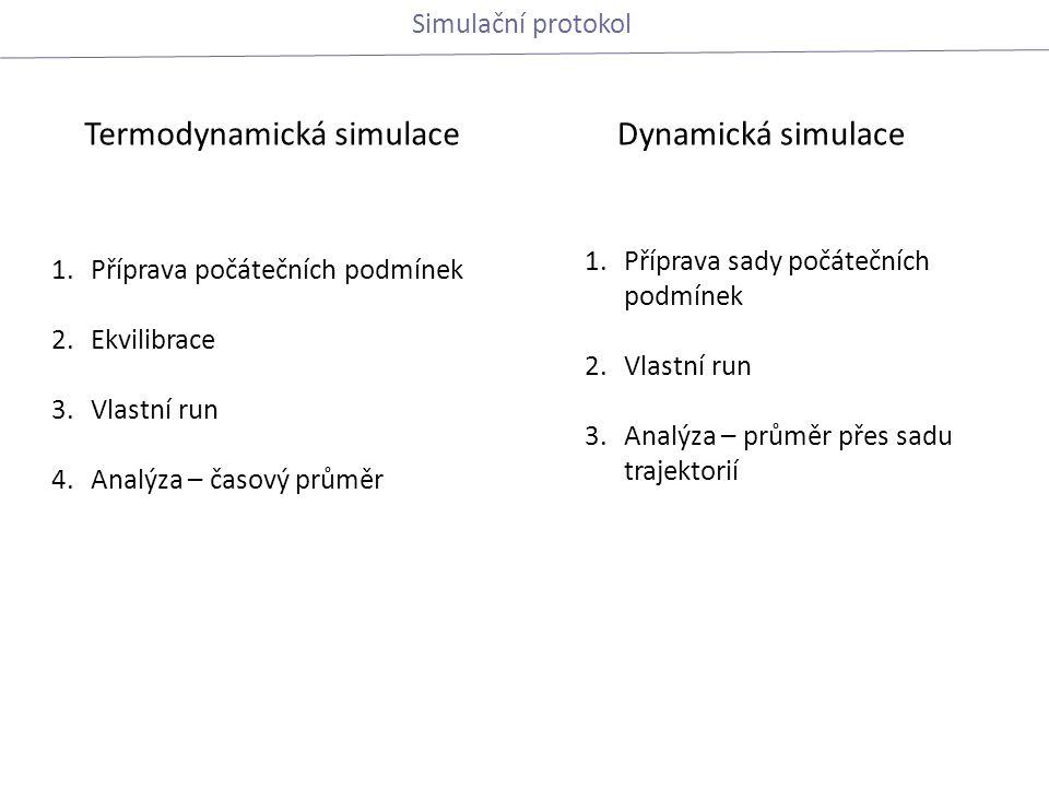 Termodynamická simulace Dynamická simulace
