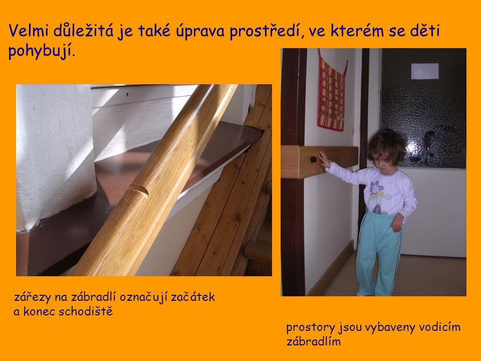 Velmi důležitá je také úprava prostředí, ve kterém se děti pohybují.