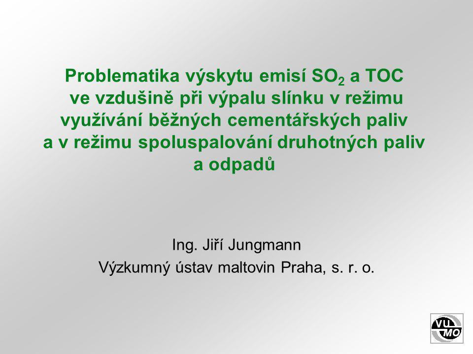 Ing. Jiří Jungmann Výzkumný ústav maltovin Praha, s. r. o.