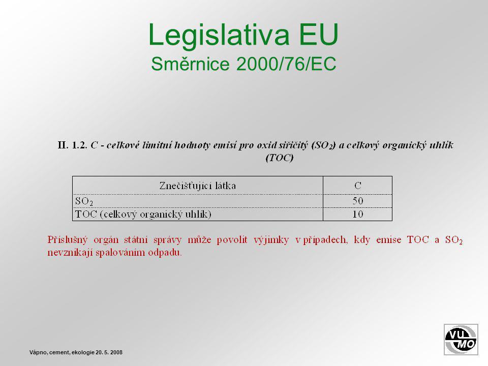Legislativa EU Směrnice 2000/76/EC