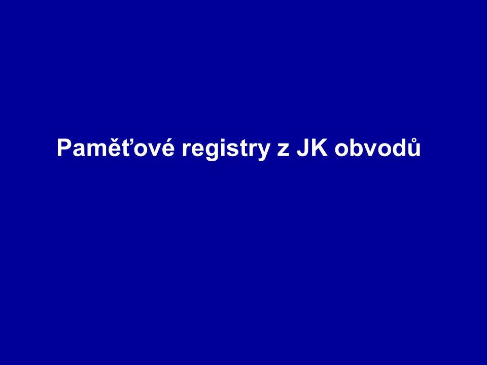 Paměťové registry z JK obvodů