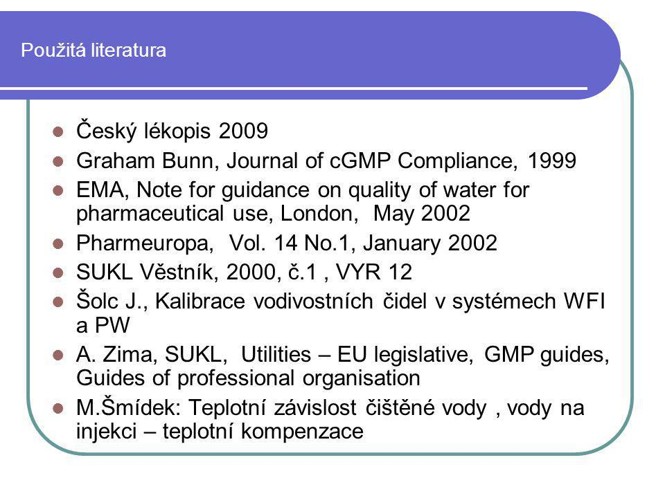 Graham Bunn, Journal of cGMP Compliance, 1999