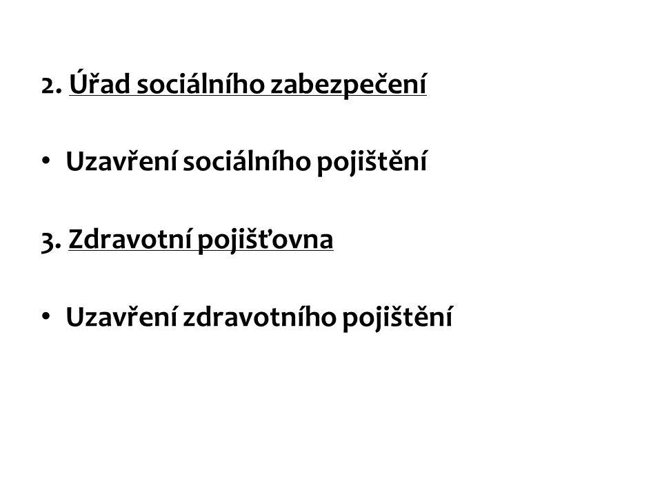 2. Úřad sociálního zabezpečení