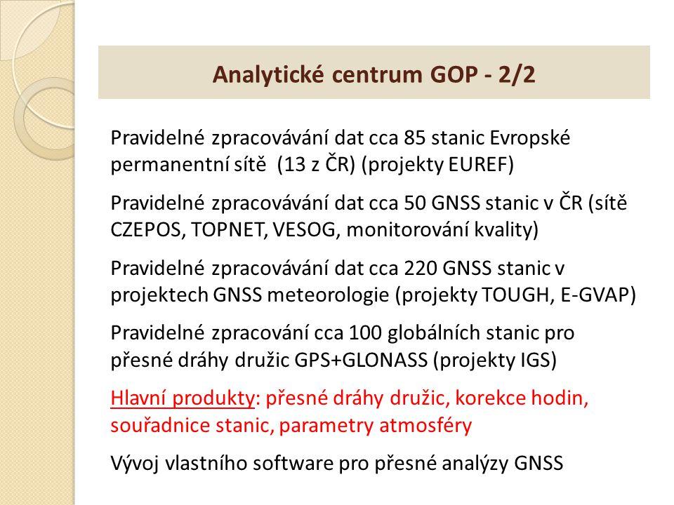 Analytické centrum GOP - 2/2