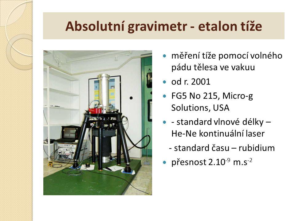 Absolutní gravimetr - etalon tíže