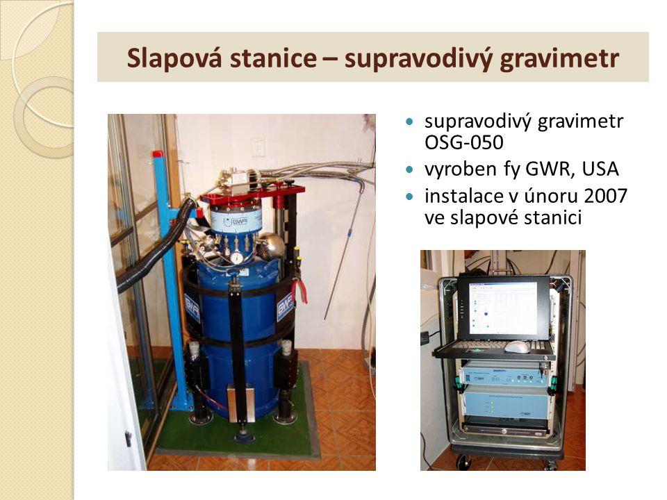 Slapová stanice – supravodivý gravimetr