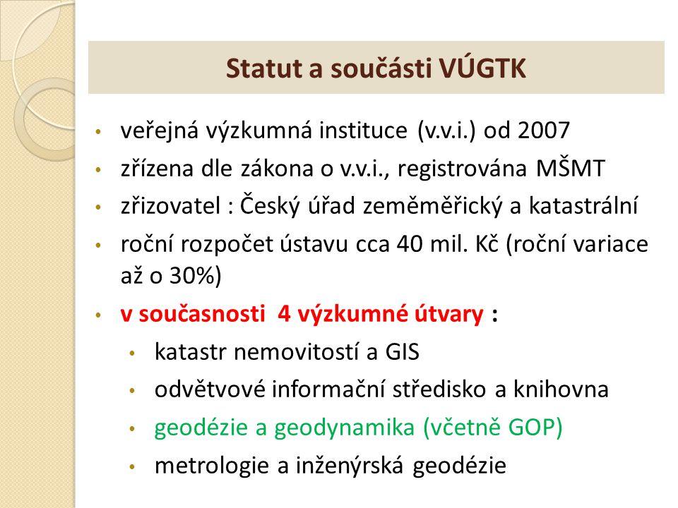 Statut a součásti VÚGTK