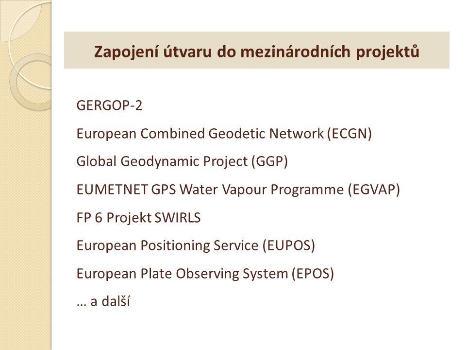 Zapojení útvaru do mezinárodních projektů