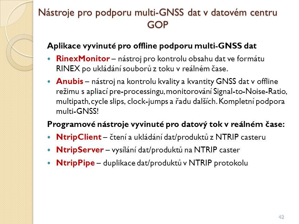 Nástroje pro podporu multi-GNSS dat v datovém centru GOP