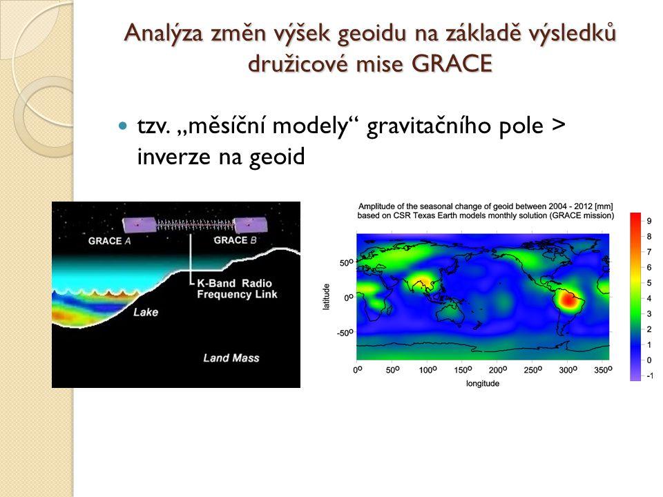 Analýza změn výšek geoidu na základě výsledků družicové mise GRACE