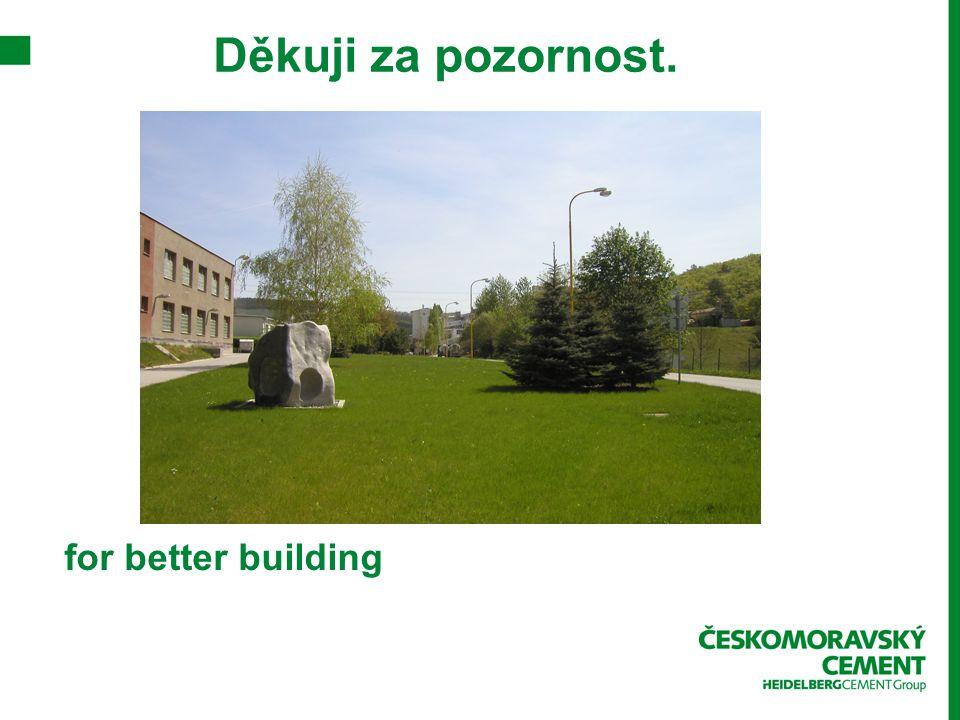 Děkuji za pozornost. for better building