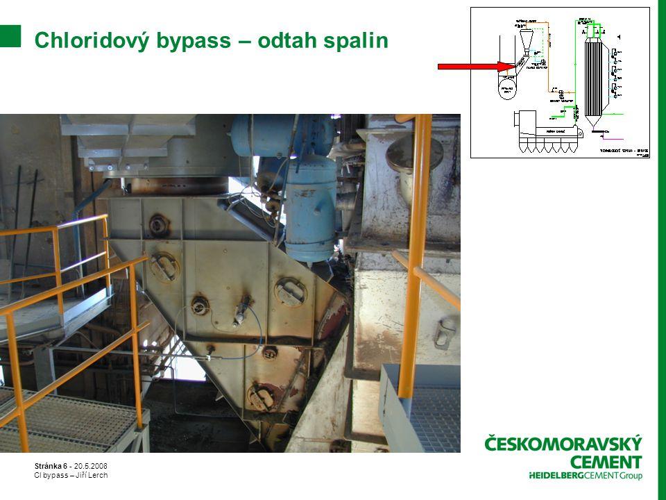 Chloridový bypass – odtah spalin