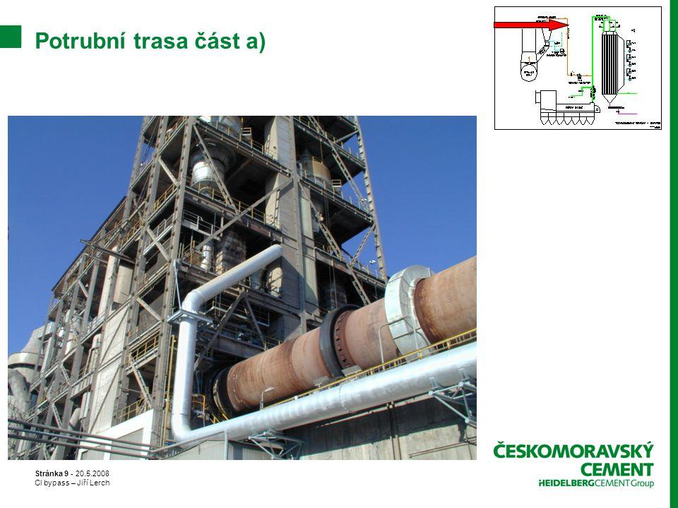 Potrubní trasa část a) Stránka 9 - 20.5.2008 Cl bypass – Jiří Lerch