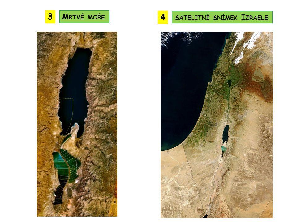 3 Mrtvé moře 4 satelitní snímek Izraele