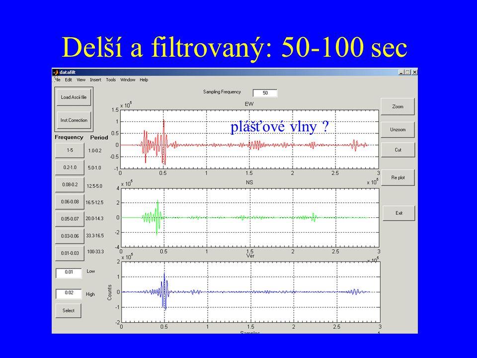 Delší a filtrovaný: 50-100 sec