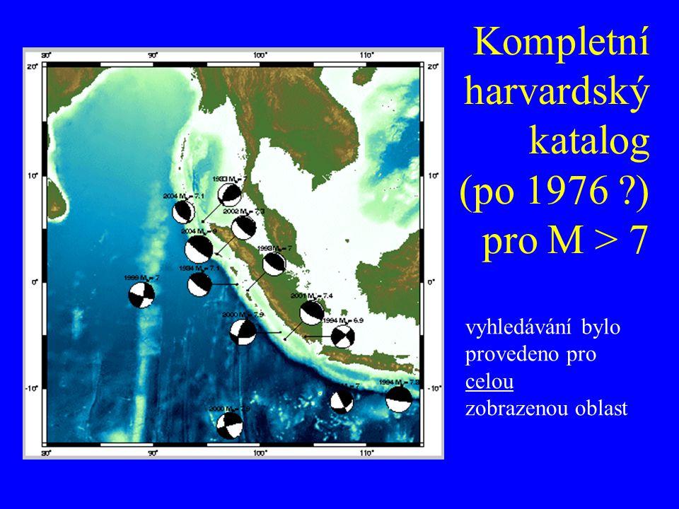 Kompletní harvardský katalog (po 1976 ) pro M > 7