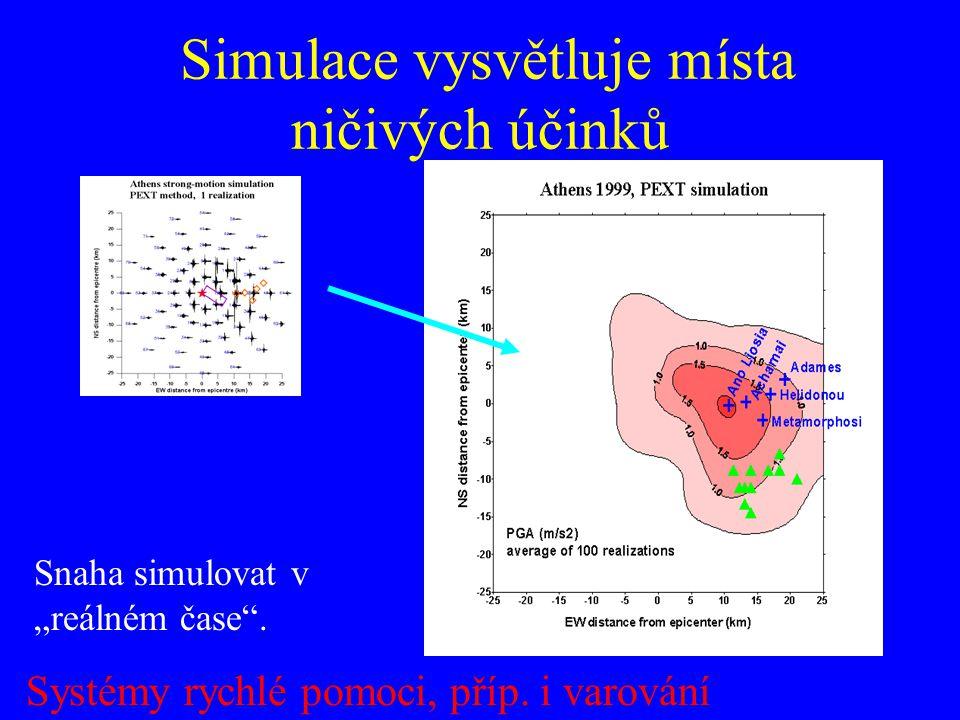 Simulace vysvětluje místa ničivých účinků
