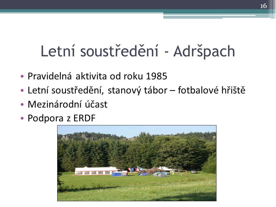 Letní soustředění - Adršpach