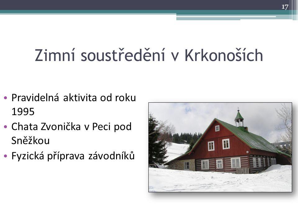 Zimní soustředění v Krkonoších