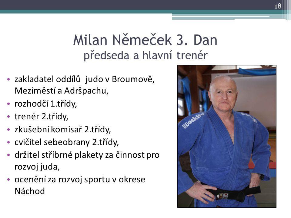Milan Němeček 3. Dan předseda a hlavní trenér