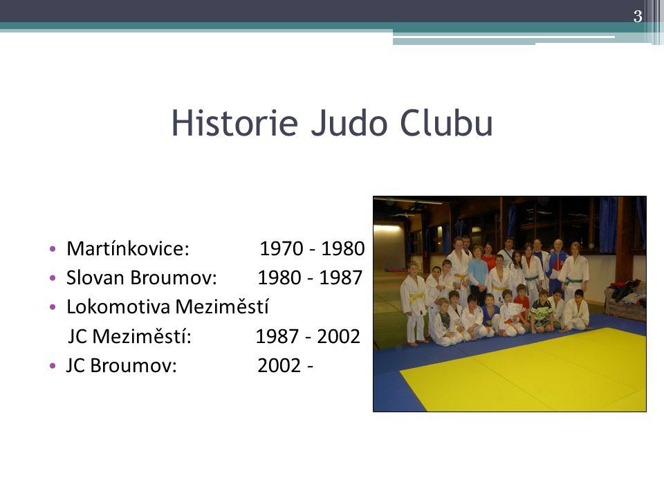 Historie Judo Clubu Martínkovice: 1970 - 1980