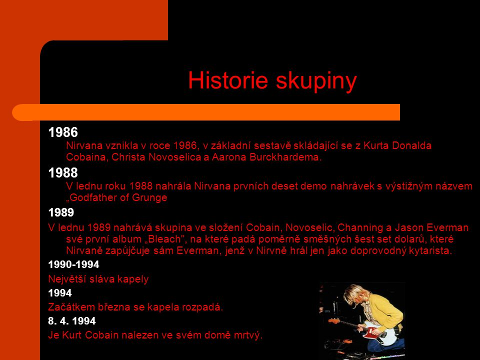 Historie skupiny
