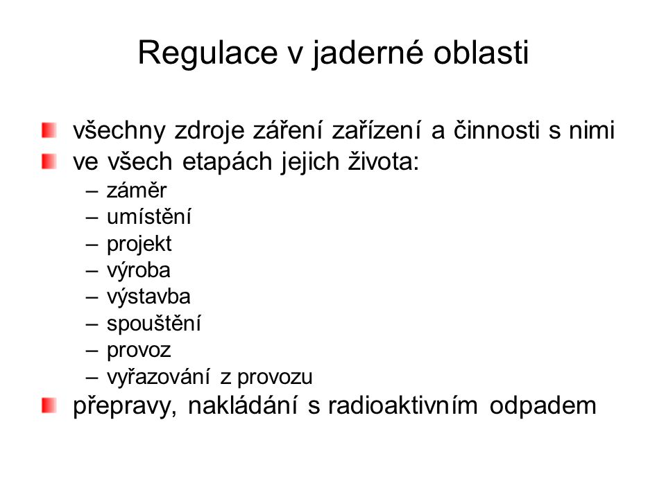 Regulace v jaderné oblasti