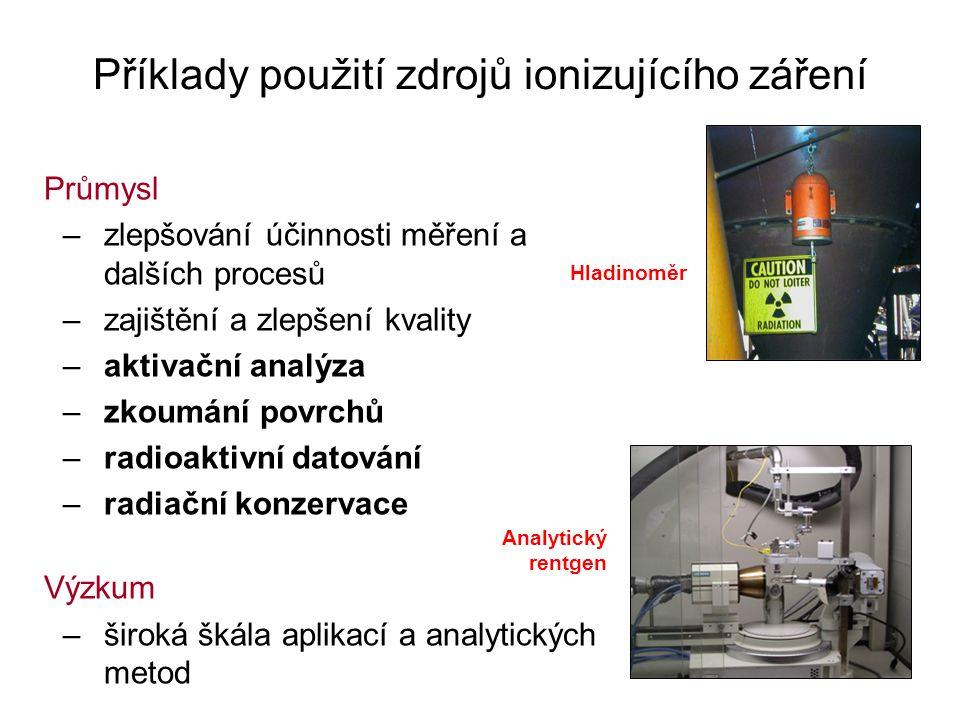 Příklady použití zdrojů ionizujícího záření