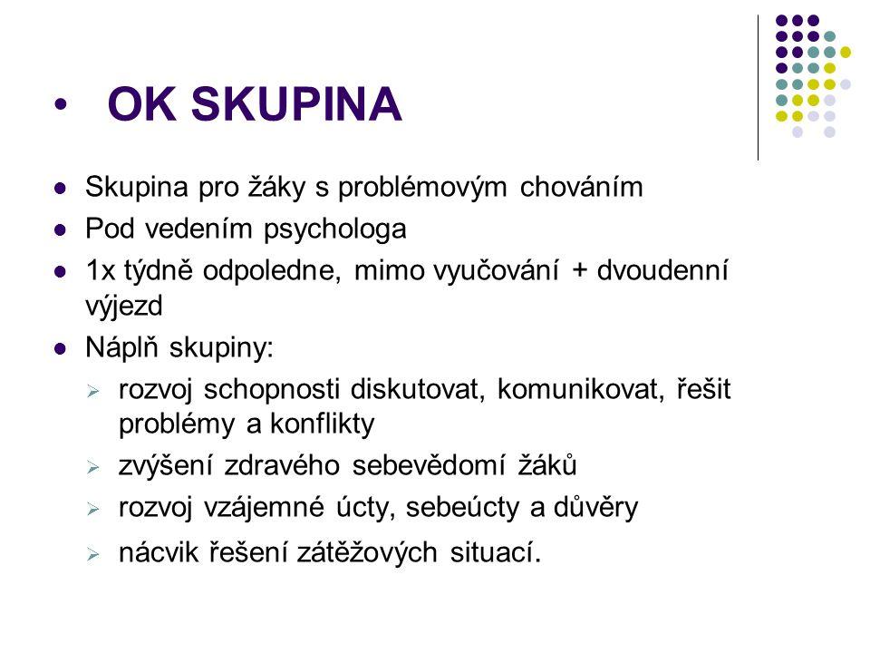 OK SKUPINA Skupina pro žáky s problémovým chováním