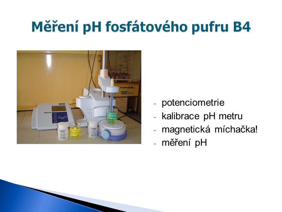 Měření pH fosfátového pufru B4