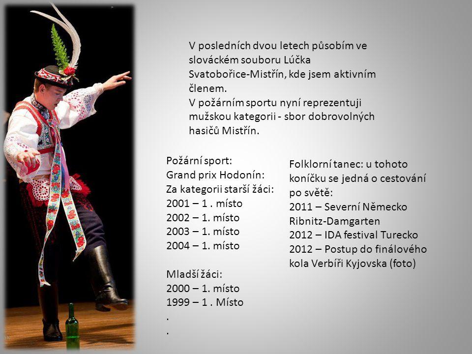 V posledních dvou letech působím ve slováckém souboru Lúčka