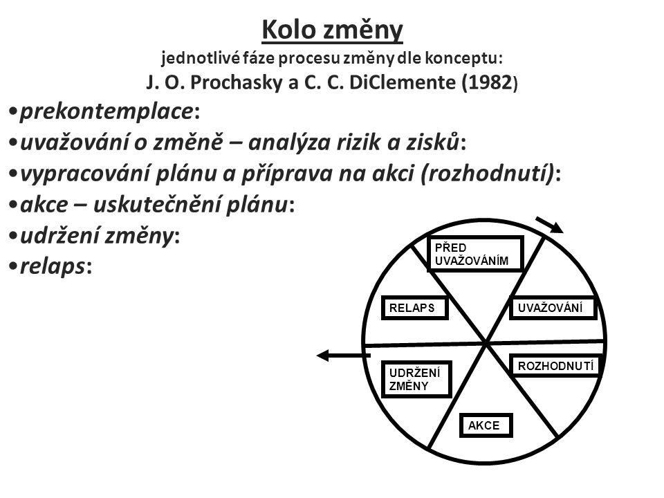 jednotlivé fáze procesu změny dle konceptu: