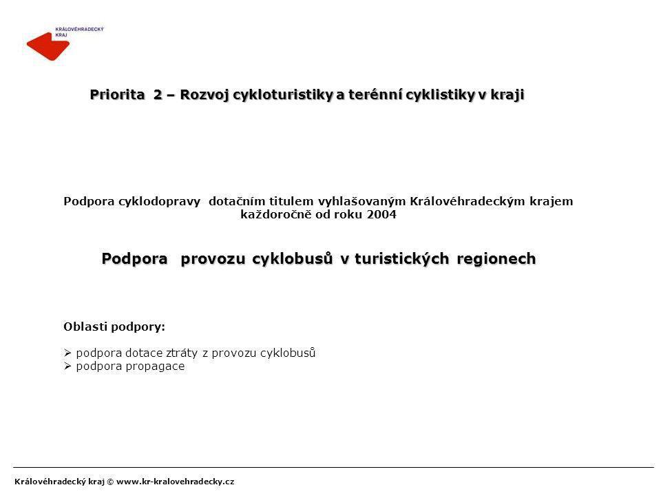 Podpora provozu cyklobusů v turistických regionech