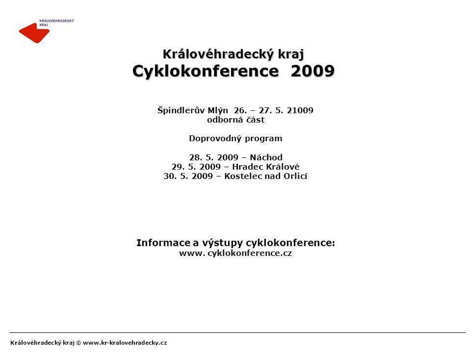 Informace a výstupy cyklokonference: www. cyklokonference.cz