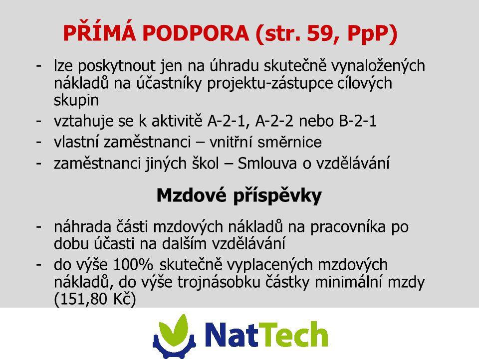 PŘÍMÁ PODPORA (str. 59, PpP)