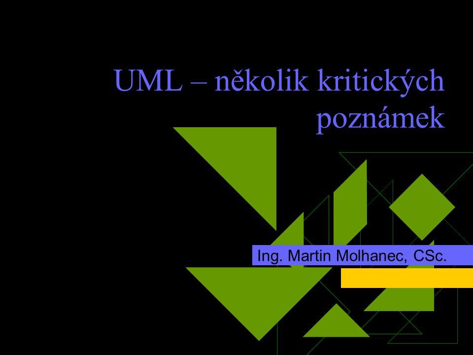 UML – několik kritických poznámek