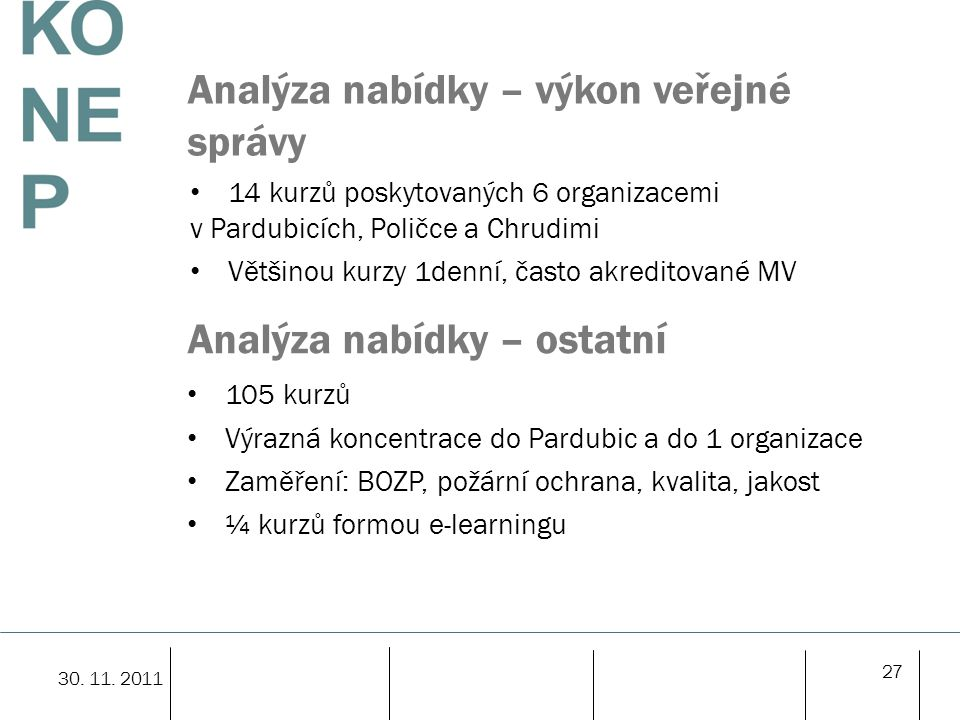 Analýza nabídky – výkon veřejné správy