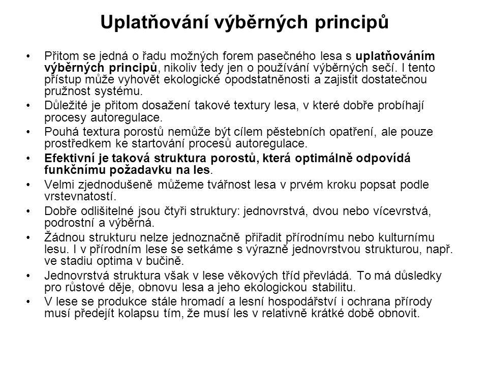 Uplatňování výběrných principů