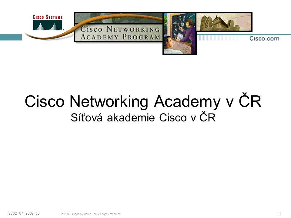 Cisco Networking Academy v ČR Síťová akademie Cisco v ČR
