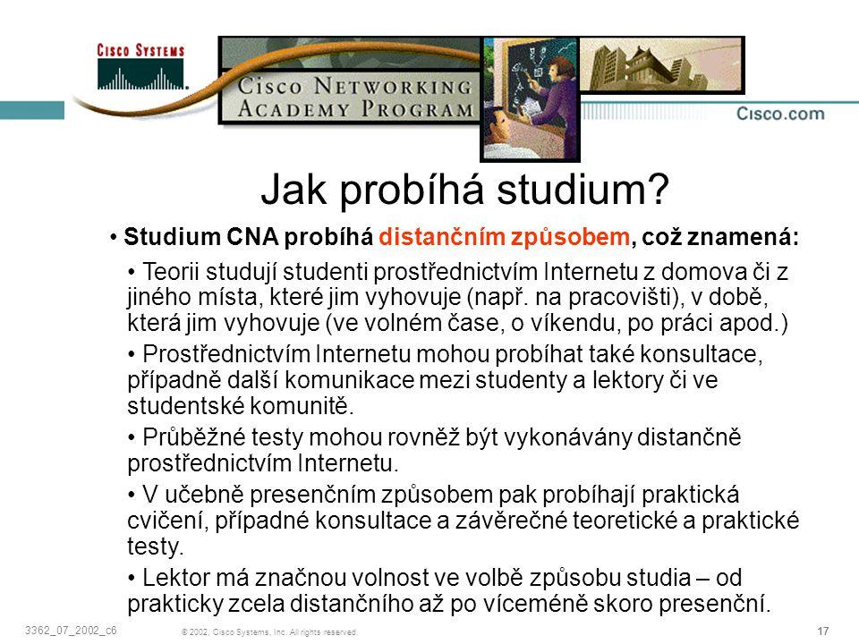 Jak probíhá studium Studium CNA probíhá distančním způsobem, což znamená: