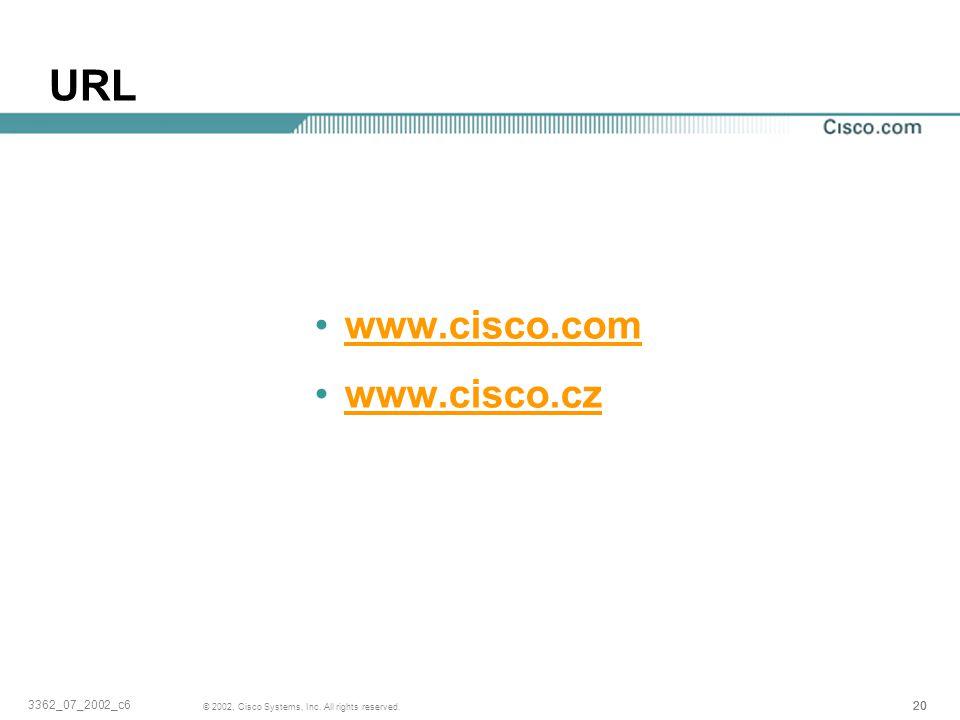 URL www.cisco.com www.cisco.cz