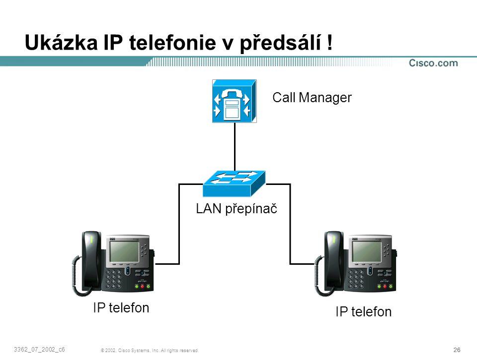 Ukázka IP telefonie v předsálí !