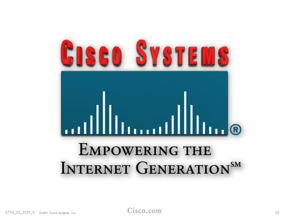 2734_03_2001_X © 2001, Cisco Systems, Inc. 36