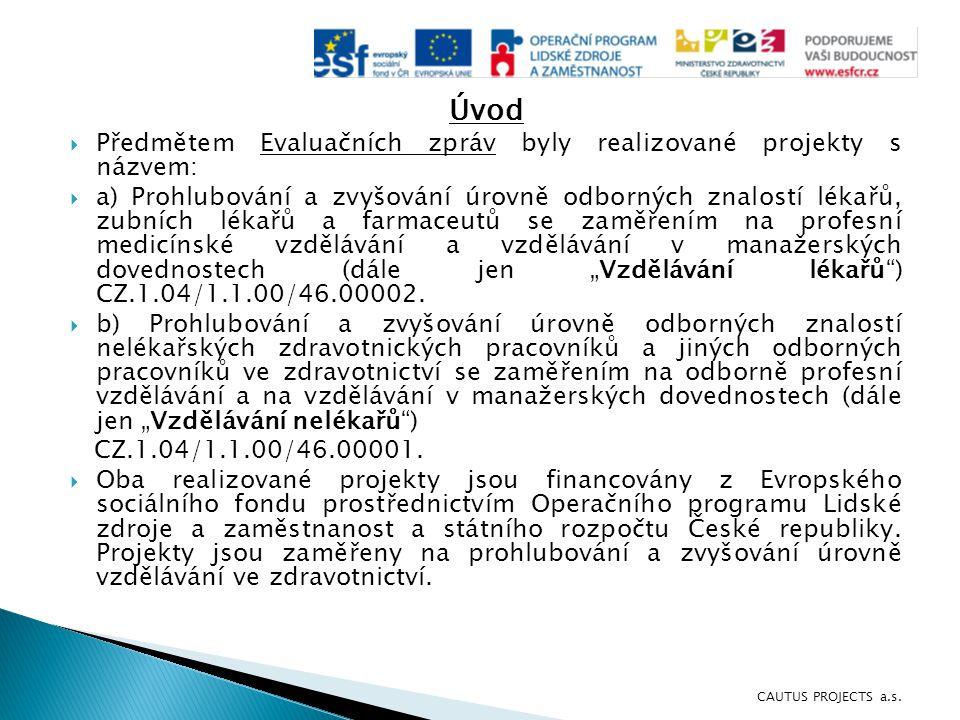 Úvod Předmětem Evaluačních zpráv byly realizované projekty s názvem: