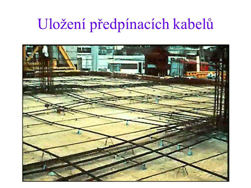 Uložení předpínacích kabelů