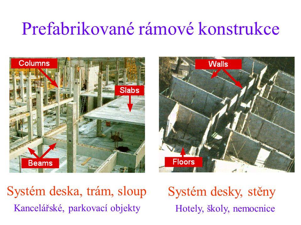 Prefabrikované rámové konstrukce