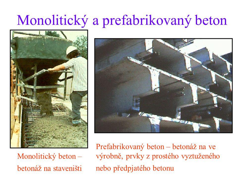 Monolitický a prefabrikovaný beton