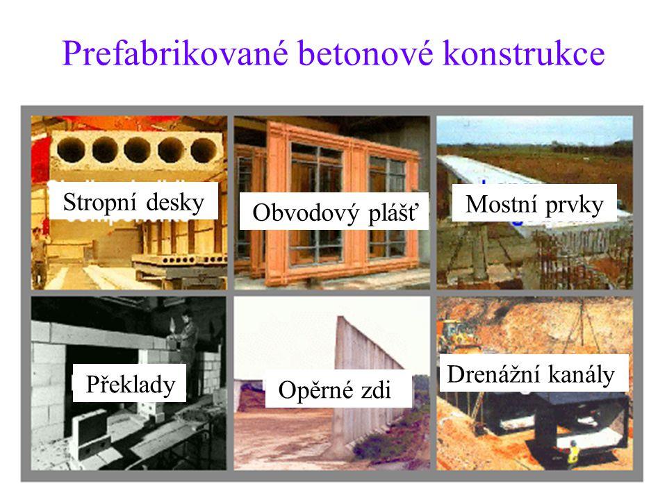 Prefabrikované betonové konstrukce