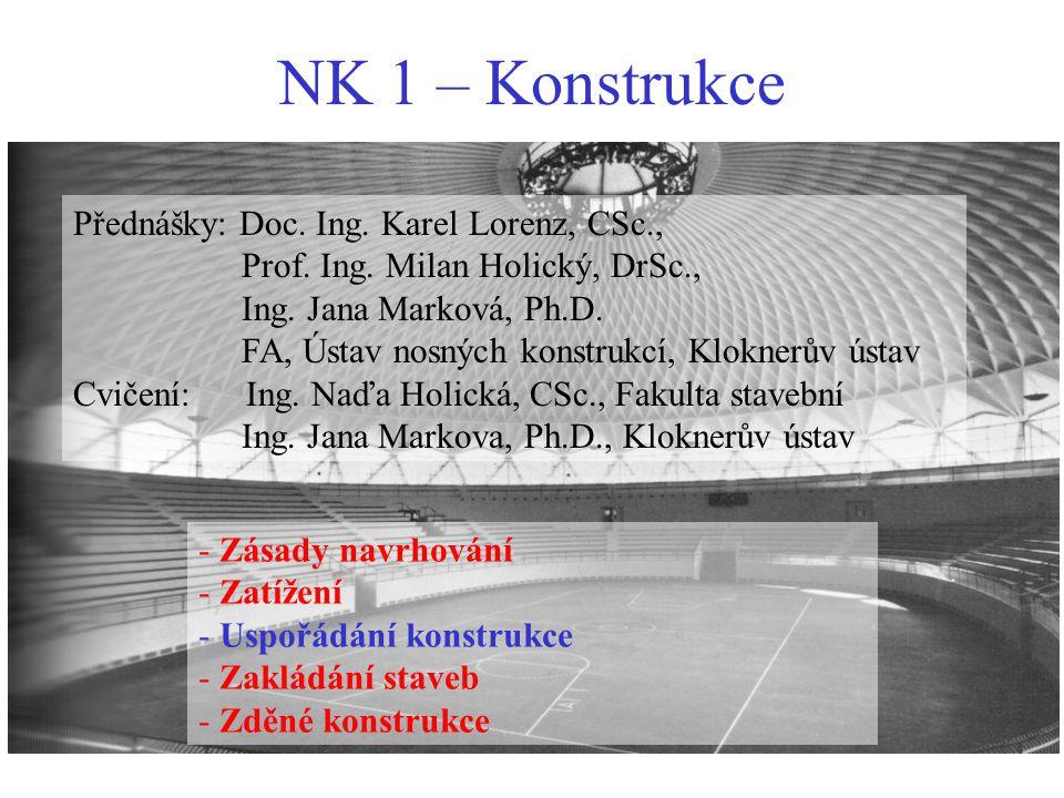 NK 1 – Konstrukce Přednášky: Doc. Ing. Karel Lorenz, CSc.,